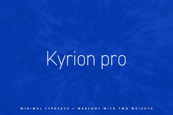 Thumbnail for Kyrion Pro Typeface + Web Fonts