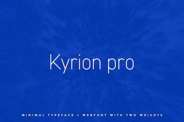 Kyrion Pro Typeface + Web Fonts