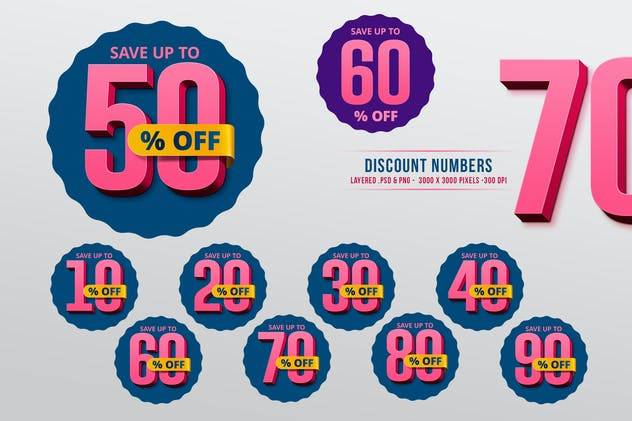 Discount Numbers