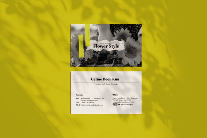 Thumbnail for Flower Style Business Card