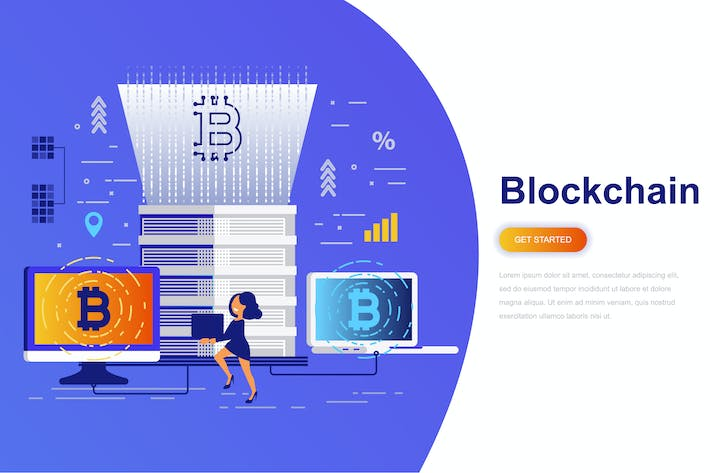 Thumbnail for Cryptocurrency and Blockchain Modern Flat Concept