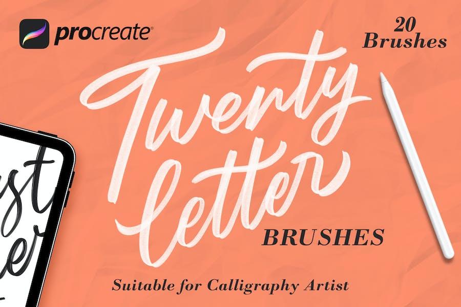 Twentyletter - Procreate Brush