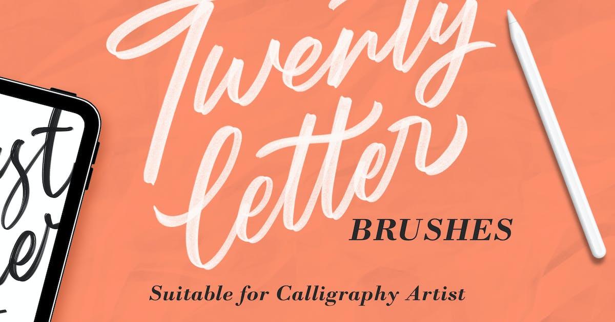 Download Twentyletter - Procreate Brush by Streakside