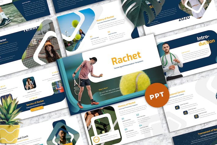Thumbnail for Rachet - Tennis Sport Powerpoint Templates