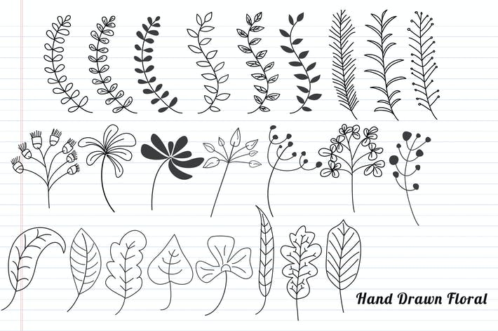 Thumbnail for Floral Hand Drawn
