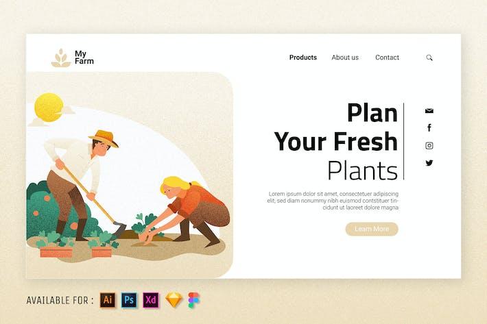 Thumbnail for Planifiez vos plantes fraîches - Illustration Web