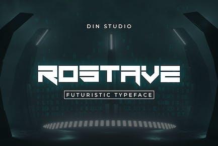 Fuente Rostave-Futuristic