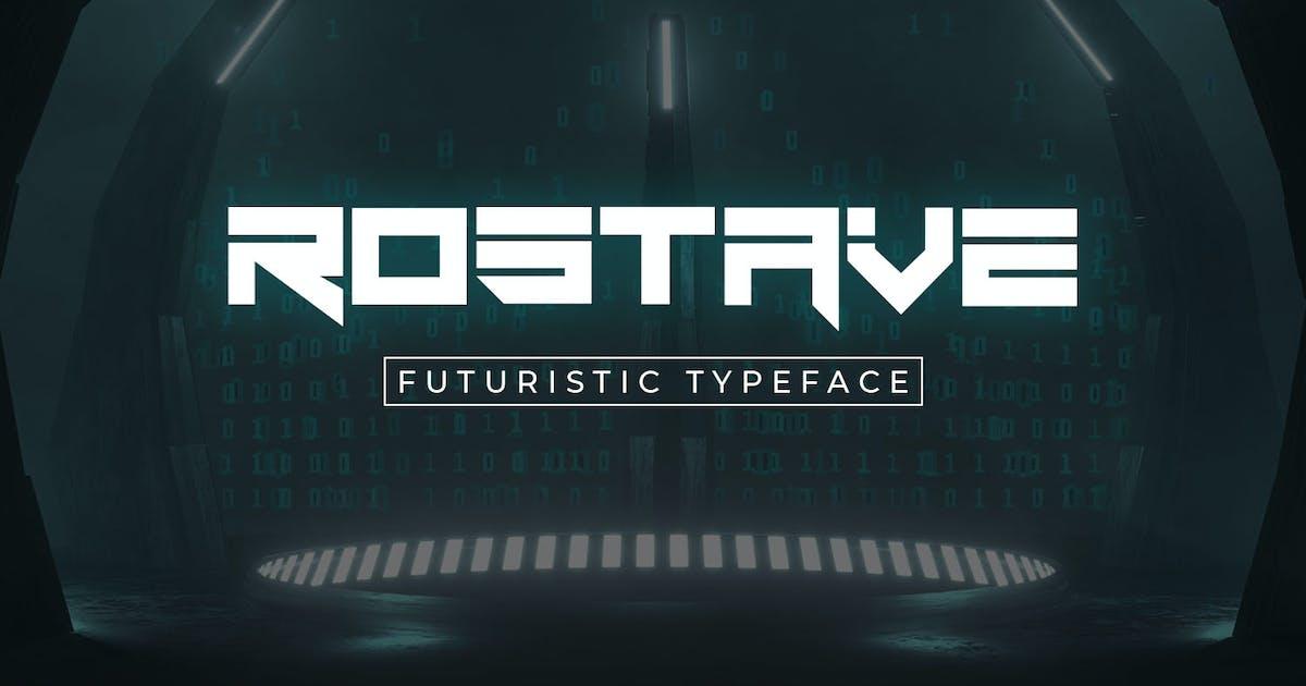 Download Rostave-Futuristic Font by Din-Studio