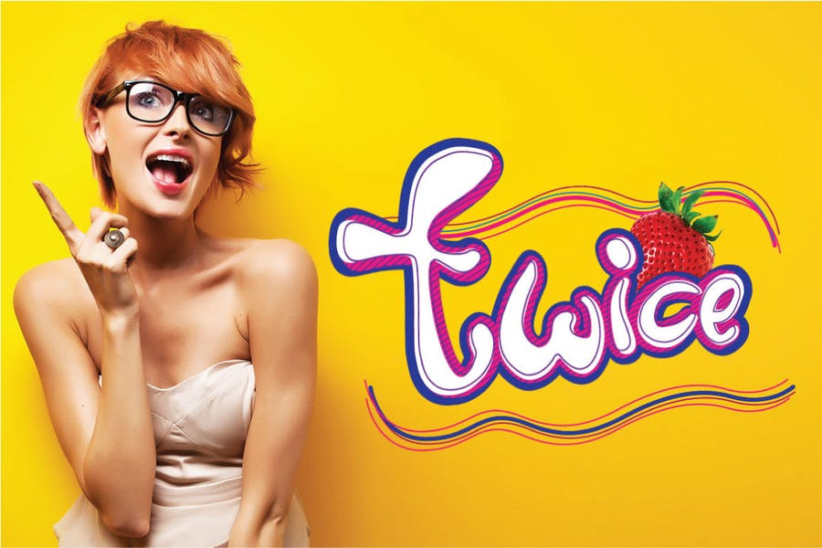Twice Bubble Logotype Font