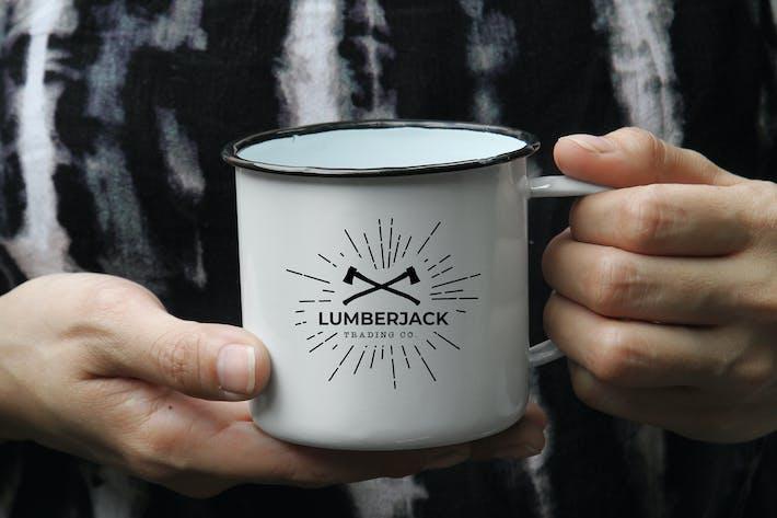 Thumbnail for Adventure Enamel Mug Mockup