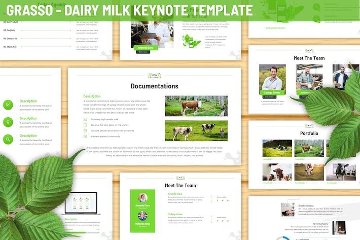 Thumbnail for Шаблон Keynote Грассо - Молочная ферма