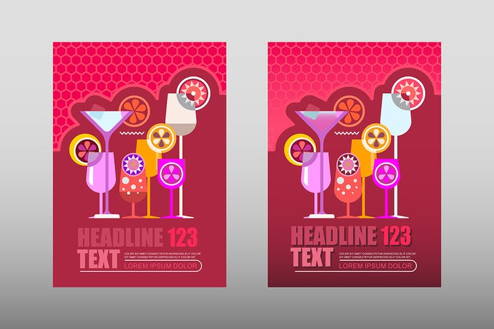 Thumbnail for Cocktail Party Poster Templates Design, size A4