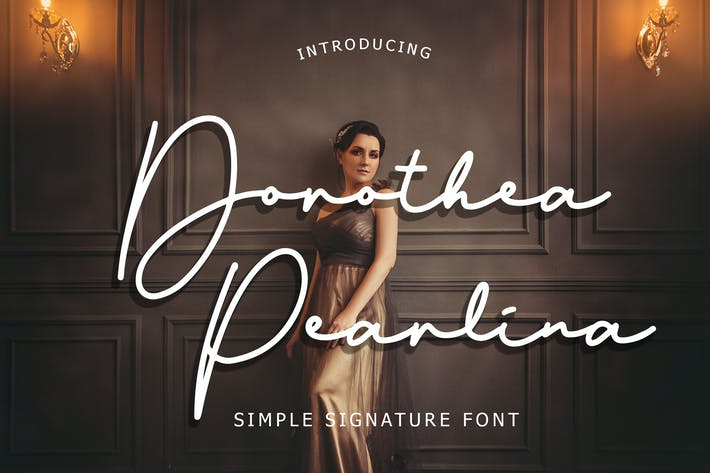 Thumbnail for Dorothea Pearlina Simple Signature Font Color blanco