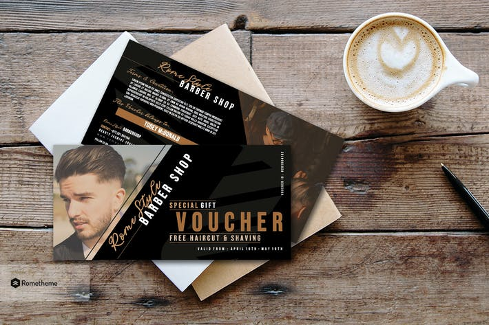 Thumbnail for Barbershop Gift Voucher Card vol.01