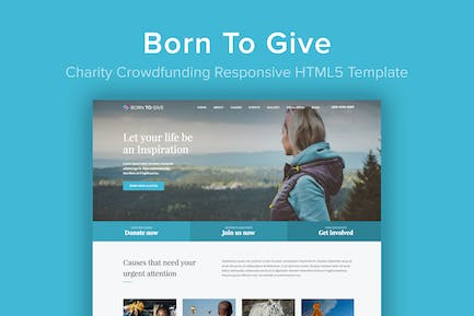 Born To Give - Charity Crowdfunding HTML5 Template