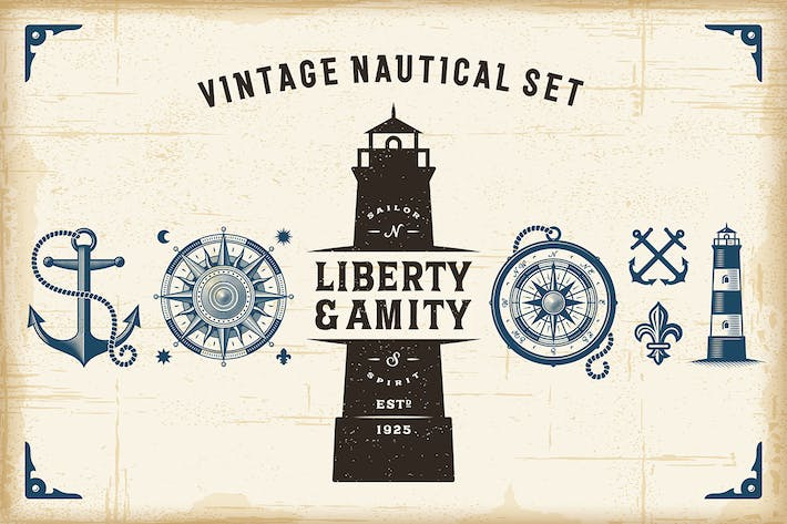 Thumbnail for Vintage Nautical Set