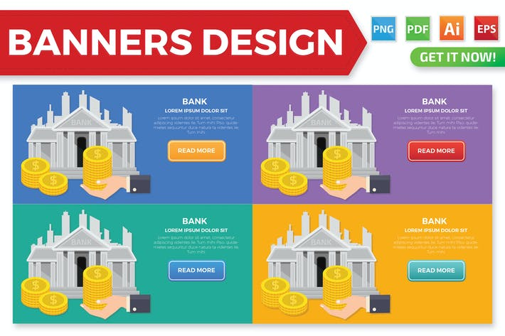 Thumbnail for Bank banners design