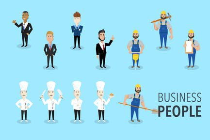 Geschäftsmann & Arbeiter