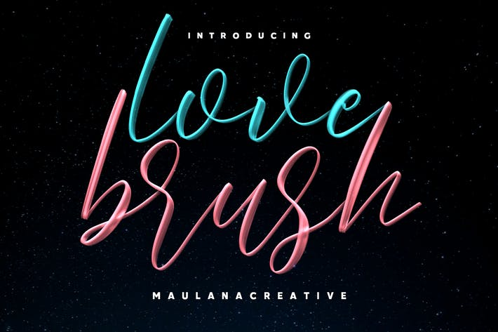 Thumbnail for Love Brush SVG Font - Free Sans