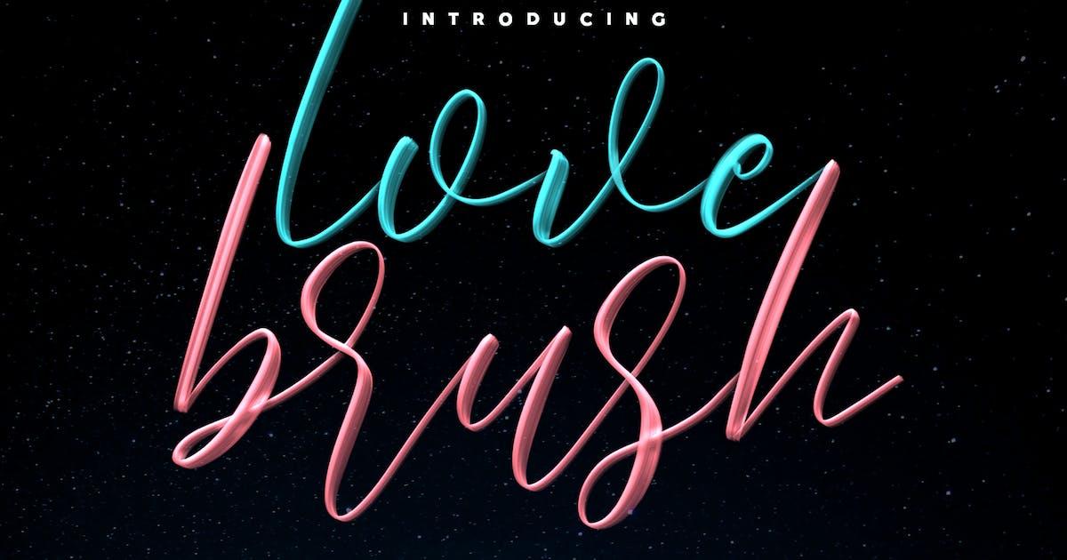 Love Brush SVG Font - Free Sans by maulanacreative