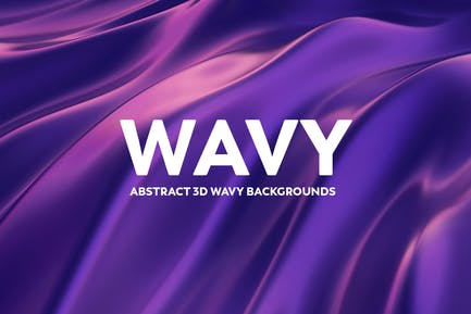 Abstract 3D Wavy Background - Blue & Purple