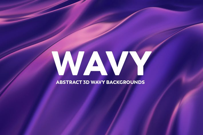 Thumbnail for Abstract 3D Wavy Background - Blue & Purple