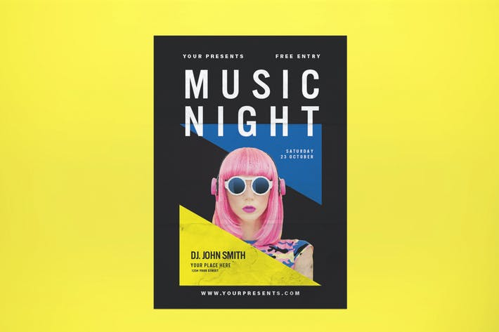 Thumbnail for Music Night Flyer