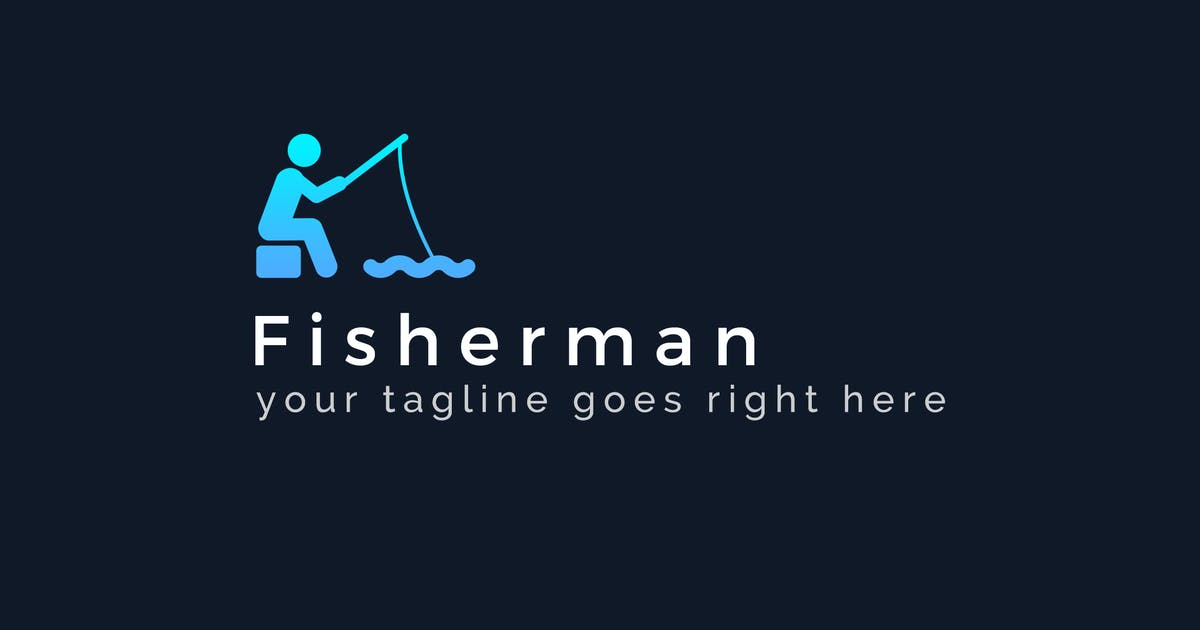 Download Fisherman - Fishing Logo Template by ThemeWisdom