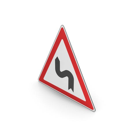 Verkehrszeichen Reihe von Kurven nach links