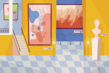 Museum - Illustration Background