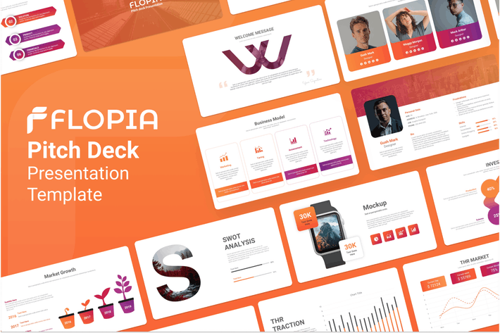 Thumbnail for Flopia Pitch Deck Presentation Template