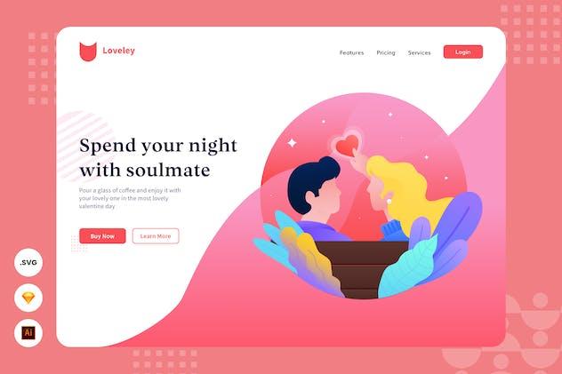 Soulmate - Website Header - Illustration