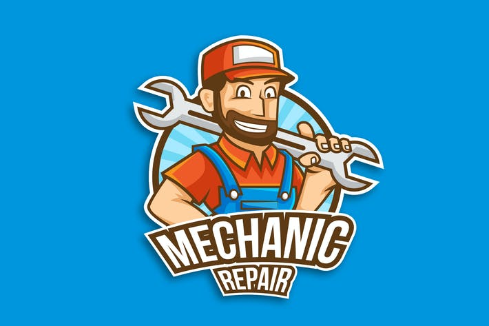 Thumbnail for Professional Mechanic Occupation Logo Vector