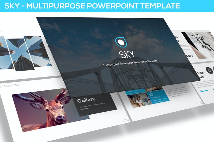 Thumbnail for Sky - Multipurpose Powerpoint Template