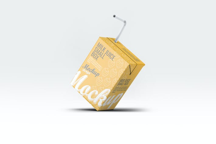 Thumbnail for Milk or Juice Small Box Mock-Up