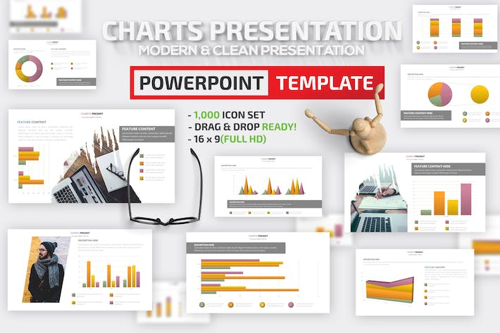Thumbnail for Charts Design Powerpoint