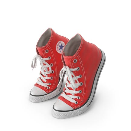 Basketball Leather Shoes Bent Red