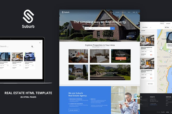 Thumbnail for Suburb – Real Estate HTML template