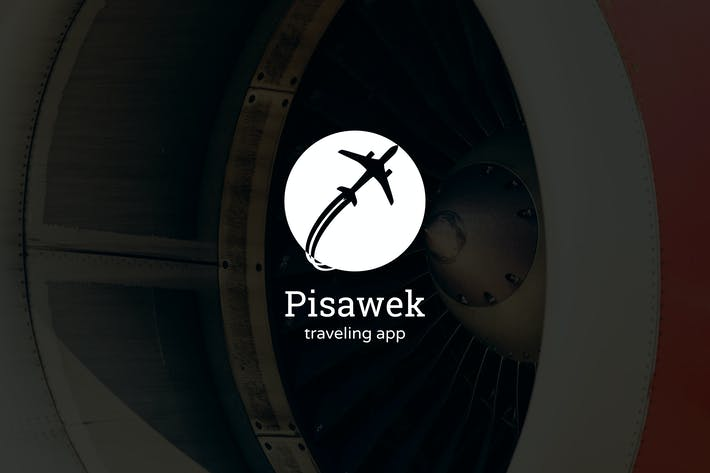 Thumbnail for Pisawek : Negative Space Plane Logo
