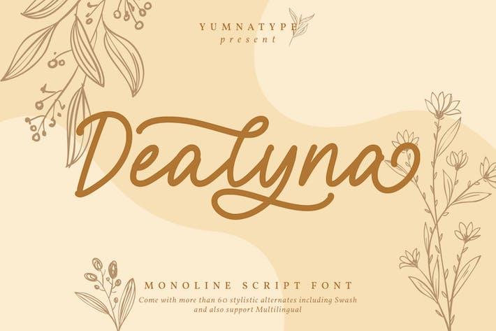 Thumbnail for Dealyna - Monoline Script Font