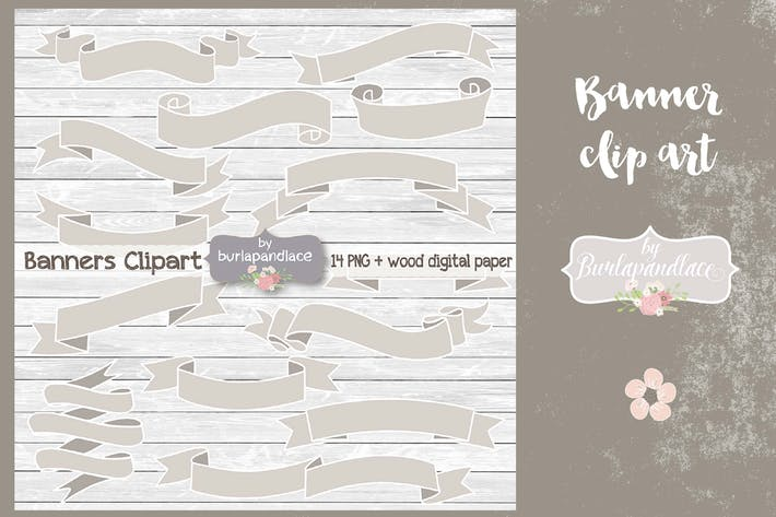 Cover Image For Banner clip art rustic