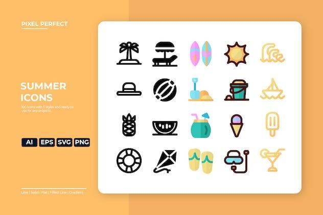 Summer Icon - 5 Styles