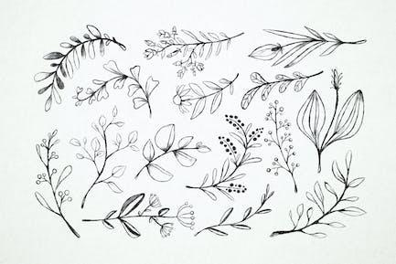 Blossoms & Leaves Doodles