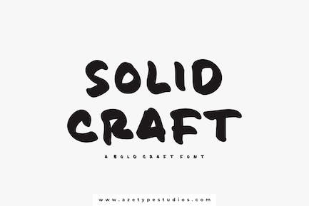 Solid Craft | A Bold Craft Font