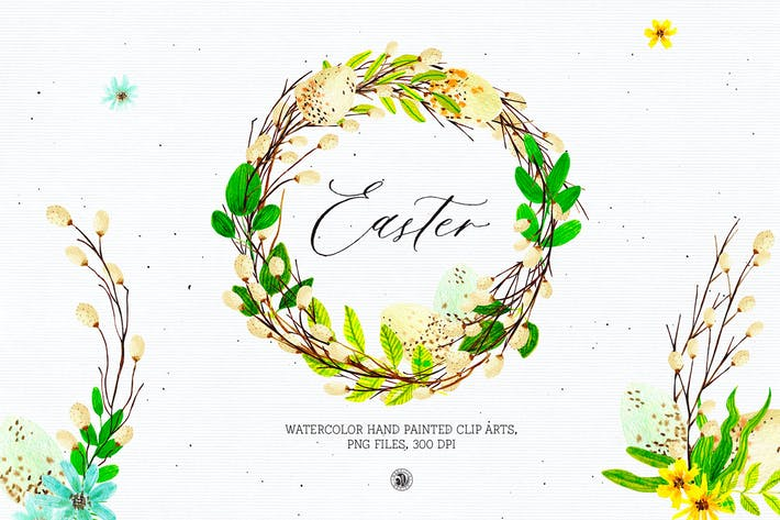 Thumbnail for Easter - watercolor set