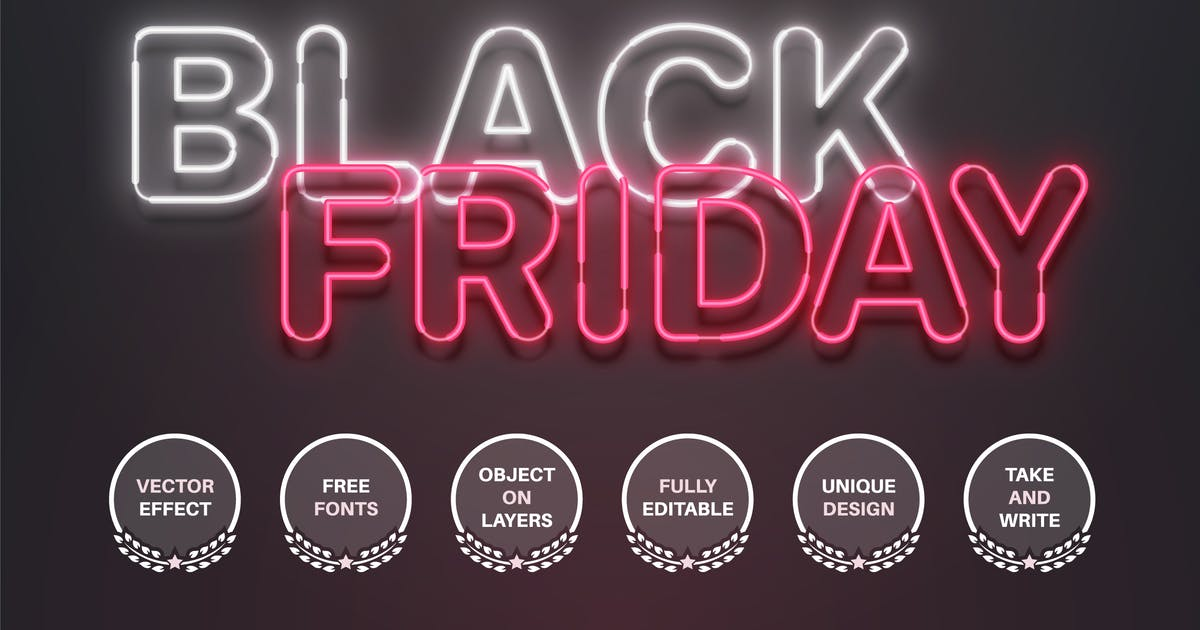 Download Black Friday - editable text effect, font style by rwgusev
