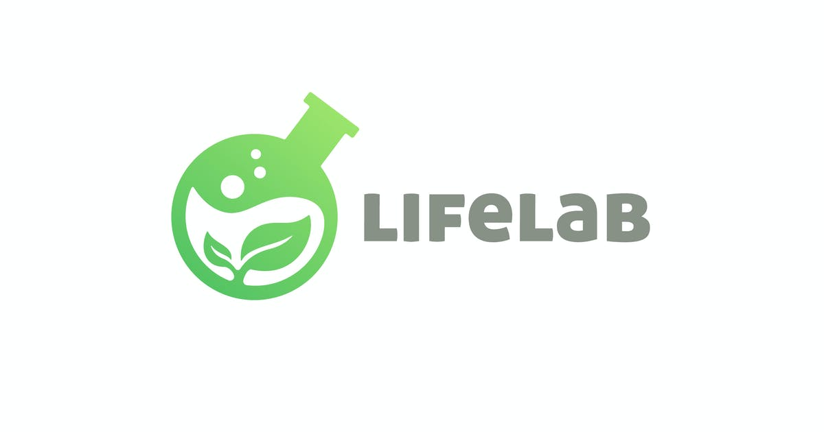Download Plant and Lab Flask Negative Space Logo by Suhandi