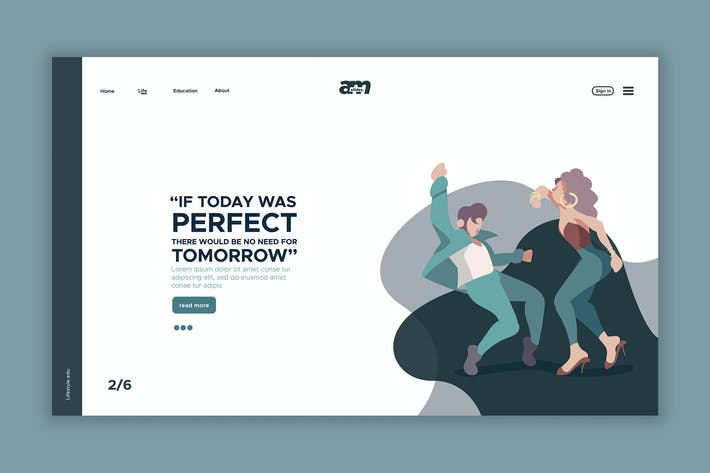 Thumbnail for Dance - Web Header & Landing Page