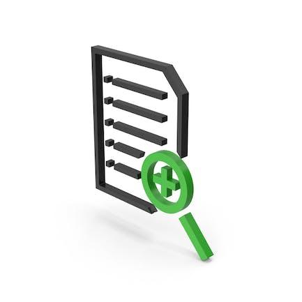 Symbol Document File Zoom Black Green