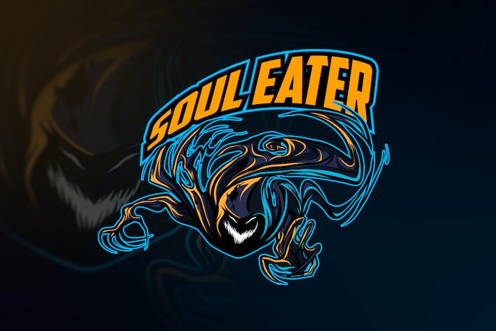 Thumbnail for Soul Eater Esports and Sports Mascot Logo